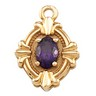 Pendant Dangle with Oval Shaped 6 x 4mm Center Stone Ref 259040