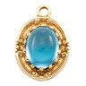 Cabochon Pendant Dangle Oval 9 x 7mm Center Ref 312578