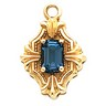 Pendant Dangle with Emerald Cut 6 x 4mm Center Stone Ref 449552