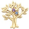 My Tree  Brooch Holds up to 9 birthstones 29 x 27.5mm Ref 925130