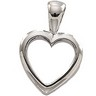 Heart Pendant 15 x 10mm Ref 312625