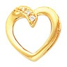 Heart Shaped Chain Slide with Diamonds 15.5 x 16mm Ref 582021
