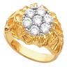 Mens Cluster Ring 1.4 CTW Ref 629169