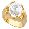 11.9mm Round Mens Belcher Ring Mounting 6 Carat