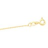 1mm Diamond Cut Solid Bead Chain with Spring Ring Clasp Ref 108389