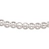 8mm Sterling Silver Hollow Bead Chain 18 inches Ref 686577