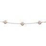 5 to 6mm Sterling Silver Pink Pearl Station Necklace 18 inches Ref 648732