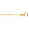 1.25mm Solid Figaro Chain with Spring Ring Clasp Ref 711076