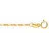 1.5mm Solid Figaro Chain with Spring Ring Clasp Ref 834277