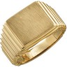 Gents Signet Ring with Brush Finished Top 14 x 13mm Ref 415536