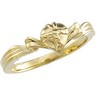 The Gift Wrapped Heart  Ring 10K Yellow Gold Ref 586972