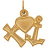 Cross, Heart, and Anchor Pendants