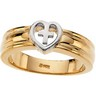 Heart Ring | 14K Two-Tone Gold; 7.25 Width; 3.78 DWT 7* | SKU: R7031