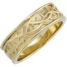 Duo Wedding Band with Thorn Design 6.25 to 6.5mm Width Ref 816130