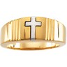 Two Tone Cross Ring Ref 953532