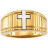 Two Tone Cross Duo Band 8.75 to 9.5mm Width Ref 763621
