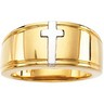 Two Tone Cross Duo Band 9 to 10mm Width Ref 331755