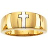 Wedding Ring  for Men 7.75 Width; 4.08 DWT 8*; Two Tone Ref 415659